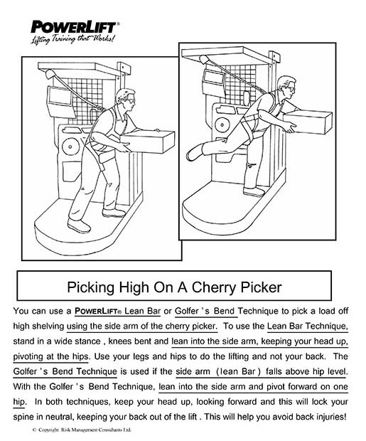 Picking High Shelves on a Cherry Picker