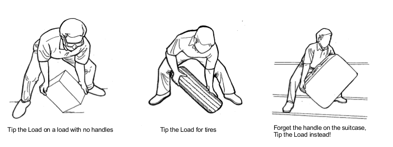 Tip the Load on a Load Without Handles